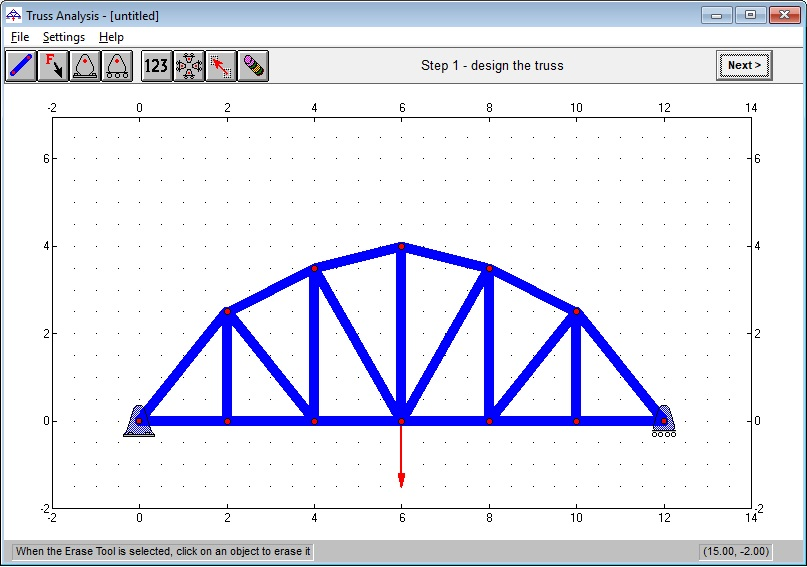 MathOnWeb - Truss Analysis